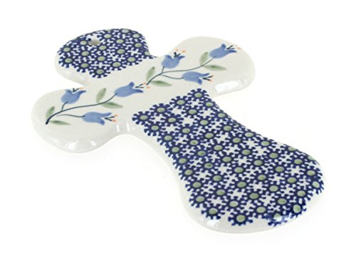 Blue Rose Polish Pottery Tulip Cross ()