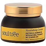 SoulTree Saffron & Almond Oil with Natural Vitamin E Nourishing Cream, 60g