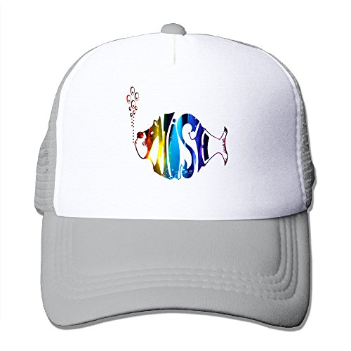 [MVIKI Adult Colorful Fish Ball Sanpback Cap Hat Ash] (Adult Clifford Costumes)
