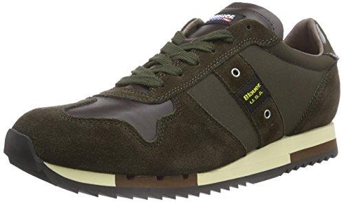 Uomo military Verde grün Sneaker tas Usa Runlow Blauer Green w0fqIv