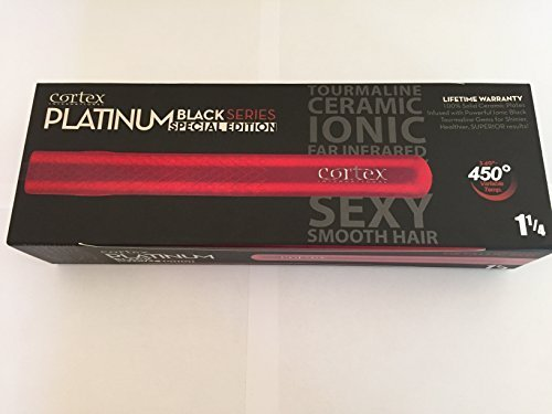 cortex platinum black flat iron - 4