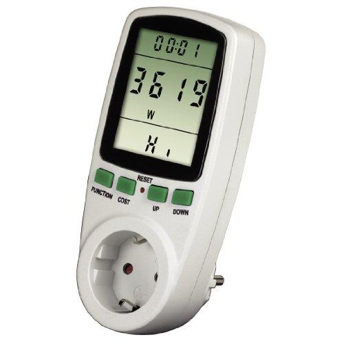 Xavax Premium Energiekosten-Messgerät (Stromverbrauchsmessgerät zur Ermittlung von Stromverbrauch und Stromkosten, Speicherfunktion zur Langzeitmessung)