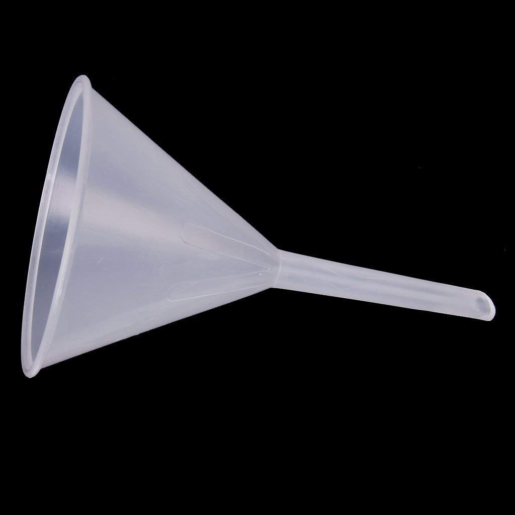Aeromdale 90mm Plastic Transparent Funnel for Kitchen Laboratory Garage Car Liquids