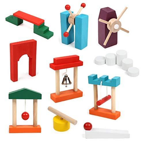 SD ドミノキング 120個 ドミノ倒し ギミック セット 木製 カラフル ホビー おもちゃ DOMINOKING