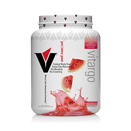 Vitargo Carbohydrate Powder | Feed Muscle Glycogen 2X Faster | 4.4 LB Watermelon Pre Workout & Post Workout | Carb Supplement for Recovery, Endurance, Gain Muscle Mass