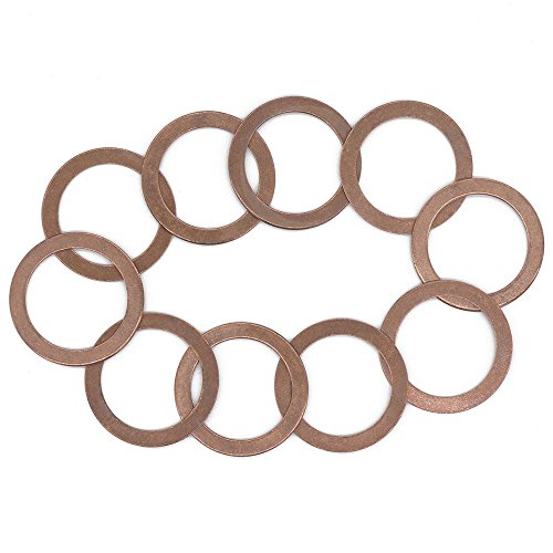 (Front Differential Drain Plug Washer Gasket for Toyota 4Runner, Tundra, Tacoma, Sequoia, Land Cruiser, FJ Cruiser, Replacement for the Part# 90430-24003, 10 Pack)