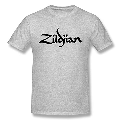 - GreatLong Men Zildjian Classic T-Shirts Gray 5XL with Short Sleeve