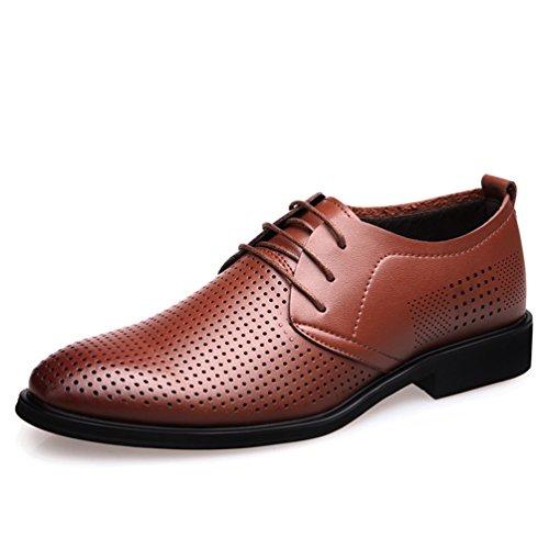 Sintético Material Zapatos Hombre marrón de Feidaeu wqx1vYzqf