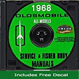 1968 Oldsmobile Repair Shop Service Body Manual CD (with Decal) 68