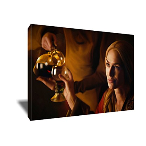 Cersei Lannister More Wine Painting Portrait Poster Artwork On Canvas Art Print  8X12 Inches