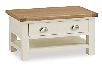 French Country Cream Small Coffee Table