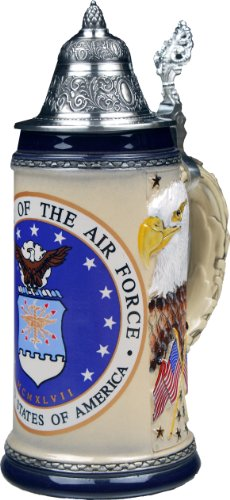 Beer Stein by King - US Air Force Coat of Arms Relief German Beer Stein 0.75l Limited by KING