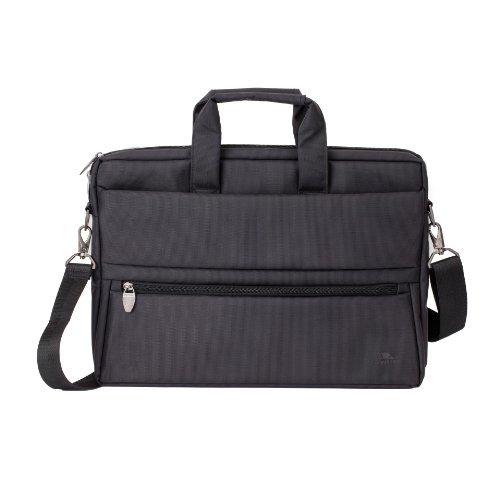 Rivacase 15.6 Inch Laptop Bag Durable Water Resistant Black Color