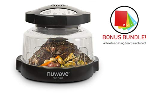 NuWave 20631BND Oven Pro Plus Bundle With Flex Mat Cutting Boards, 15.5-in, Black