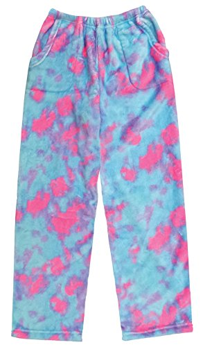 iscream Big Girls Silky Soft Extra Plush Pants - Sherbet Tie Dye, X-Small by iscream