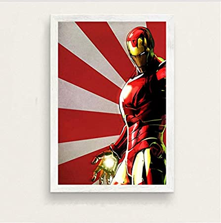 haoxinbaihuo Tony Stark Iron Man Superheroes Película Arte ...