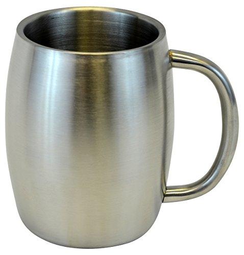 Southern Homewares Stainless Double Wall Steel Beer/Coffee/Desk Smooth Mug, 14 oz, - Steel Stainless Mug Timberline