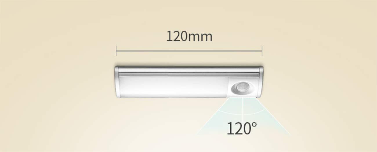 LED Luz Nocturna para Armario USB Recargable,Movimiento Sensor,Automáticamente Encendido/Apagado Aplicar A Gabinete Alacena Cajón Cocina Garaje Campana ...