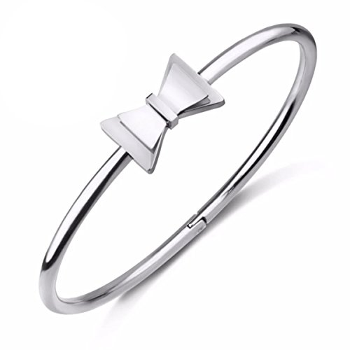 Oval bracelet decorated with cute bow for women. - Voucher Gift Tiffany