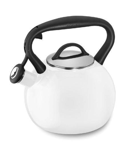 - Cuisinart CTK-EOSTRW Valor Porcelain Enamel on Steel Tea Kettle, White