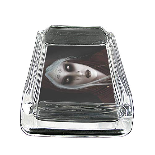 """Price comparison product image Hot Anime Witches Pin Up Girls Animated S13 Glass Square Ashtray 4""""x3"""" Sturdy Cigarette Smoking Bar"""