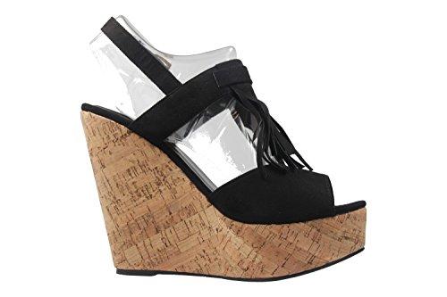 Mais Tamanhos Em De Andres Sapatos Cunha Senhoras Sandálias Machado Pretos CRqRw8H6