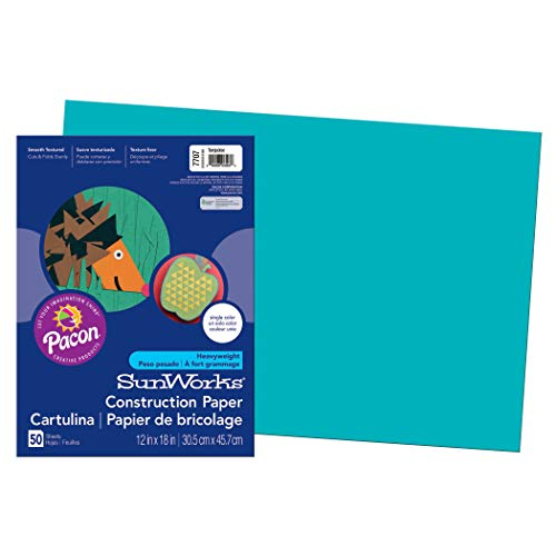 (SunWorks PAC7707BN Construction Paper, Turquoise, 12