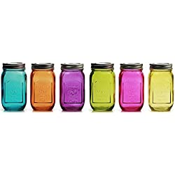 Colored Glass Jars