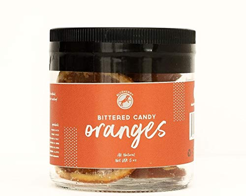 Candied Oranges - 5 oz - for cocktails Candied Orange Peel Chocolate