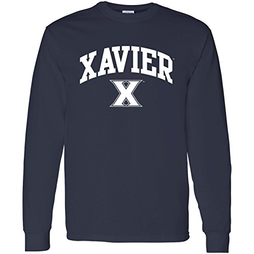 UGP Campus Apparel AL03 - Xavier Musketeers Arch Logo Long Sleeve - X-Large - (Navy Blue Double Arch)