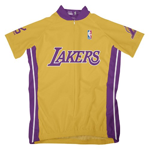 NBA Los Angeles Lakers Women's Short Sleeve Cycling Home Jersey, XL, Yellow ()