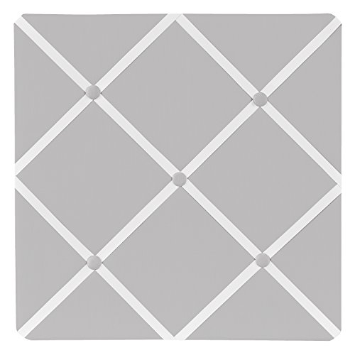 Fabric Photo Board (Sweet Jojo Designs Solid Grey Fabric Memory/Memo Photo Bulletin Board)