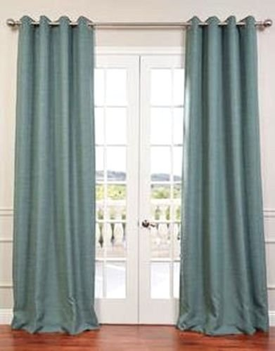 """Gorgeous Home (#32) 1 PANEL SOLID TEAL BLUE THERMAL FOAM LINED BLACKOUT HEAVY THICK WINDOW TREATMENT CURTAIN DRAPES SILVER GROMMETS AVAILABLE IN DIFFERENT SIZES (108"""" LENGTH)"""
