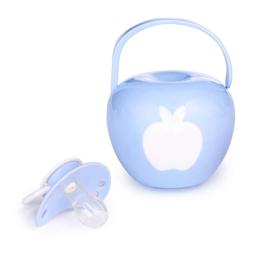 Aofocy Premium Baby T/étine T/étine Porte-t/étine Sucette T/étine Bo/îte De Rangement De Stockage Apple Shape Case bleu
