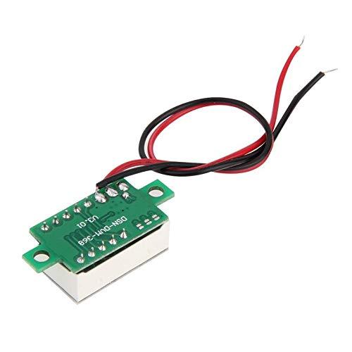 ghfcffdghrdshdfh Mini Size LED Panel Voltage Meter 3-Digital LCD Display Adjustment Voltmeter