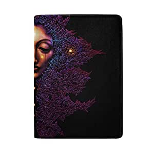 Forest Magic Characters, Old Trees, Roots Blocking Print Passport Holder Cover Case Travel Luggage Passport Wallet Card Holder Made with Leather for Men Women Kids Family