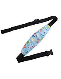 DierCosy Adjustable Toddler Head Support Safety Car Seat Neck Relief Band Offers Protection and Safety for Kids Blue BabyProducts