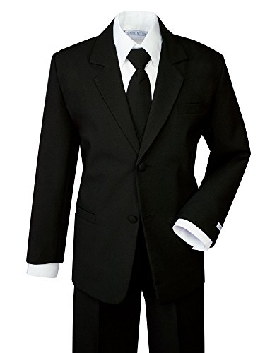 Spring Notion Boys' Formal Black Dress Suit Set 4T ()