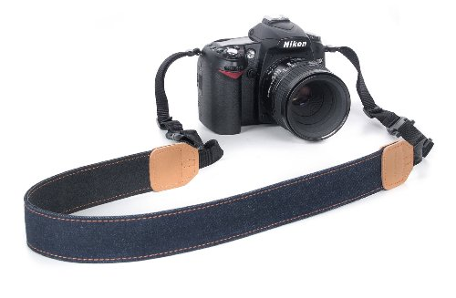 Kaiser Adventure Kamera-Tragegurt (Länge max. 145 cm, Breite 35mm) denim
