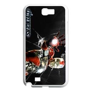 Iron Man Samsung Galaxy N2 7100 Cell Phone Case White xzde