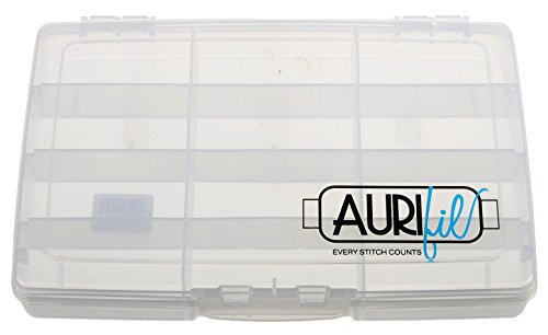 Aurifil Empty Thread Case for up to 12 Large Aurifil Thread Spools, Stackable (One (1) Case)
