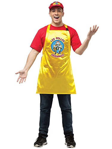 Rasta Imposta Men's Breaking Bad Apron and Visor, Yellow/Red, One Size -