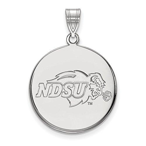 10k White Gold LogoArt Official Licensed Collegiate North Dakota State University (NDSU) Large Disc Pendant by Logo Art