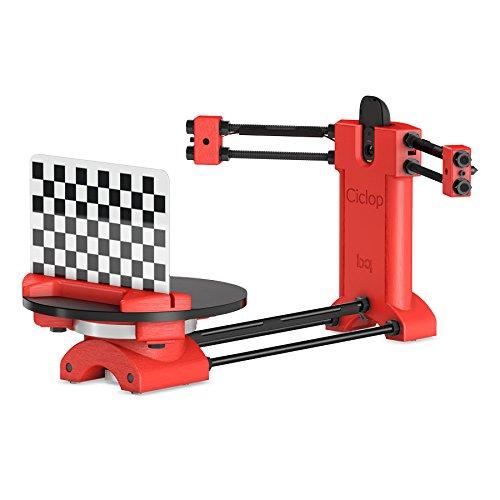 BQ Ciclop DIY 3D – Escáner 3D, color rojo