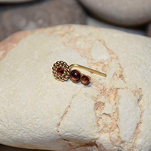BER Earring // Ear Pins - Ear Sweep - Ear Crawler - Garnet Ear Cuff - Ear Wrap Earring - Minimalist Earrings ()