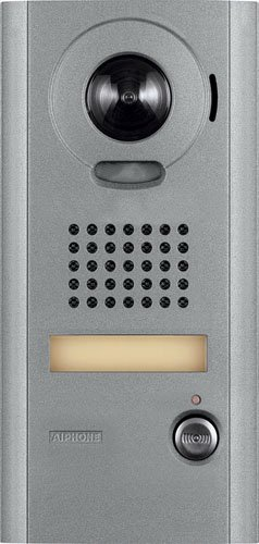 Aiphone Corporation IS-IPDV IP Addressable Video Door Station for IS Series IP Video Intercom, Aluminum Die Cast, 8-1/2'' x 4-3/16'' x 1-1/8'' by Aiphone Corporation