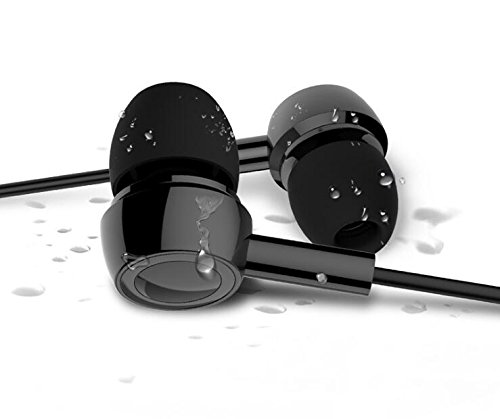 Wired Earbuds,Marrrch In-ear Stereo Earphones, 3.5mm Handsfree Sports Headphones with Mic for Android/IOS (Black)
