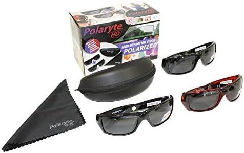 2paires de lunettes de soleil noires HD de JML Polaryte, avec protection UV et paire de lunettes de soleil en écaille de tortue