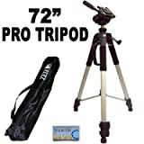 "Professional PRO 72"" Super Strong Tripod With Deluxe Soft Carrying Case For The JVC Everio GZ-HD320, HD300, HM200, MS130, MS120, MS100, MG255, MG155, MG130 High Definition Camcorders"