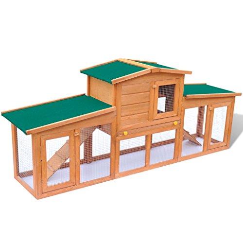 Vidaxl grande gabbia coniglio all 39 aperto casa piccoli for Piccoli piani domestici tradizionali